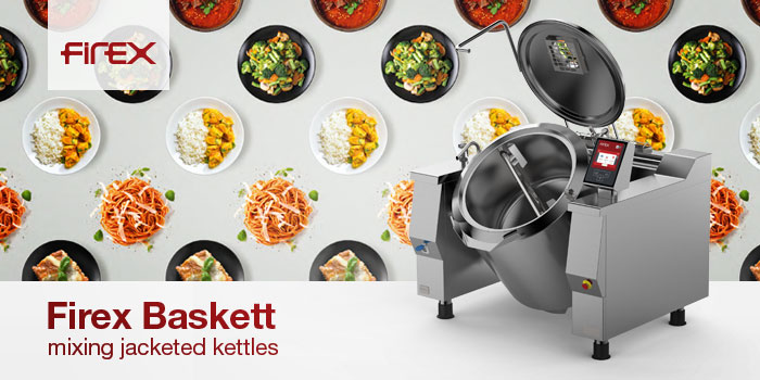 Firex Commercial Tilting Jacketed Kettles Boiling Pans With Mixer, Dreener, Made In Italy
