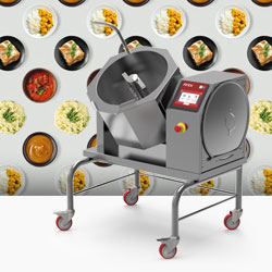 Firex Commercial Food Production Equipment, 30 Litre Automatic Cooker With Mixer, Made In Italy