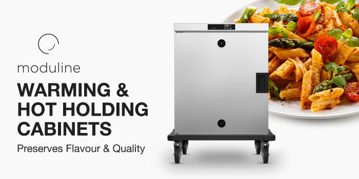 Mobile Heated Cabinets, Commercial Hot Holding, Preserves flavour and quality, Moduline Catering and Banqueting Carts