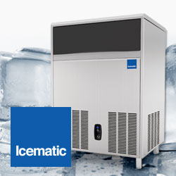Icematic CS Series Self Contained Ice Makers Cubers, Bright Gourmet Ice, Always In Stock, Great Prices, Made In Italy