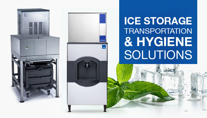 Icematic Commercial Ice Storage Solutions, Ice Transportation Systems, Ice Dispensing, Ice Shuttle Systems, Ice Machines