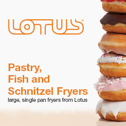 Lotus commercial pastry, fish and schnitzel fryers, made in italy