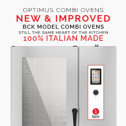 New Optimus line of combi ovens. New and improved BCK combi ovens electronic control and touch screen controls