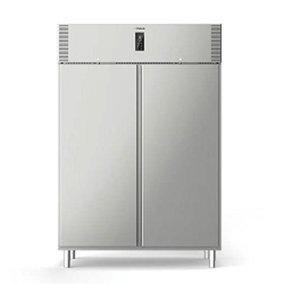 Polaris polaris 1085l two steel door refrigerated cabinet self contained freezer a140 bt