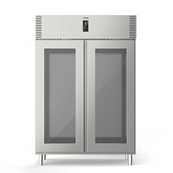 Polaris polaris 1085l two glass door refrigerated cabinet self contained freezer a140 btv