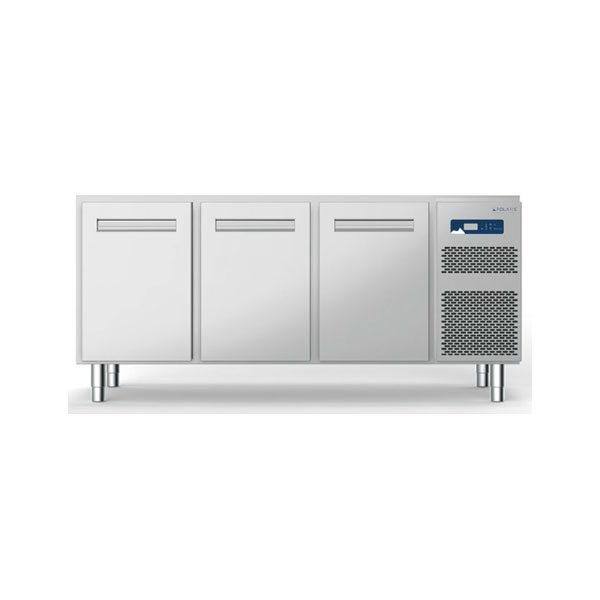 Polaris polaris 279l three door refrigerated table self contained freezer s18 03 bt 710