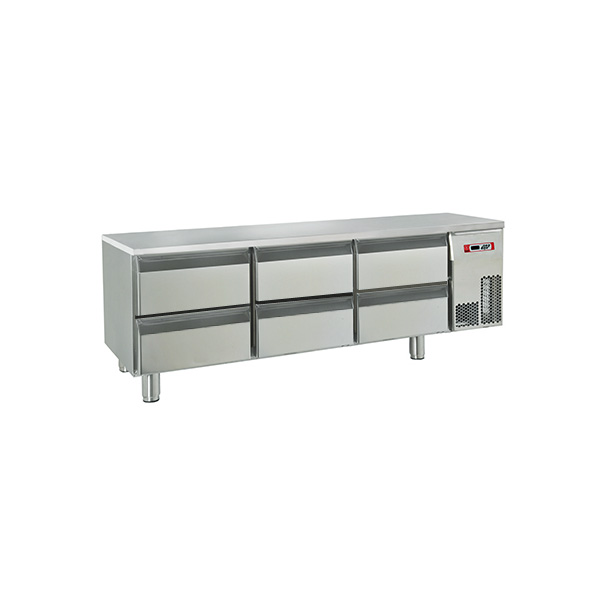 baron refrigerated base 6 drawers br16 sp04