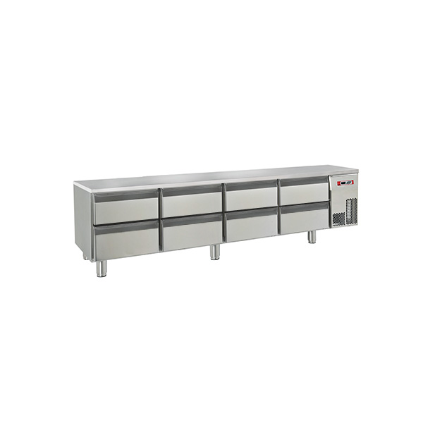 baron refrigerated base 8 drawers br20 sp05