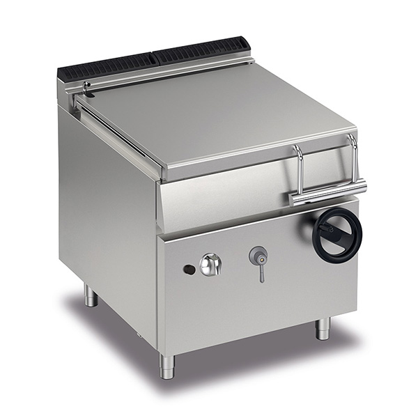 baron 60l gas bratt pan manual tilting q70br g80