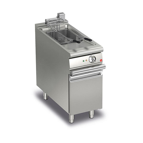 baron 15l single basin electric deep fryer q70fri e415