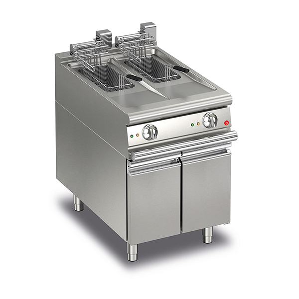 baron 10 10l split pot electric deep fryer q70fri e610