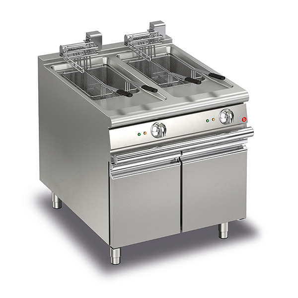 baron 15 15l double basin electric deep fryer q70fri e815