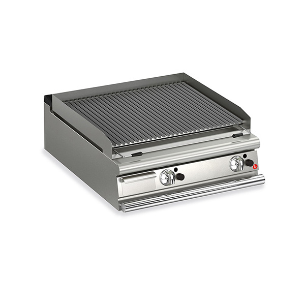 baron 2 burner gas lava rock chargrill q70glt g800
