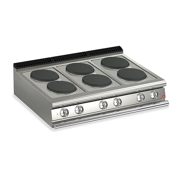 baron 6 burner electric cook top q70pc e120