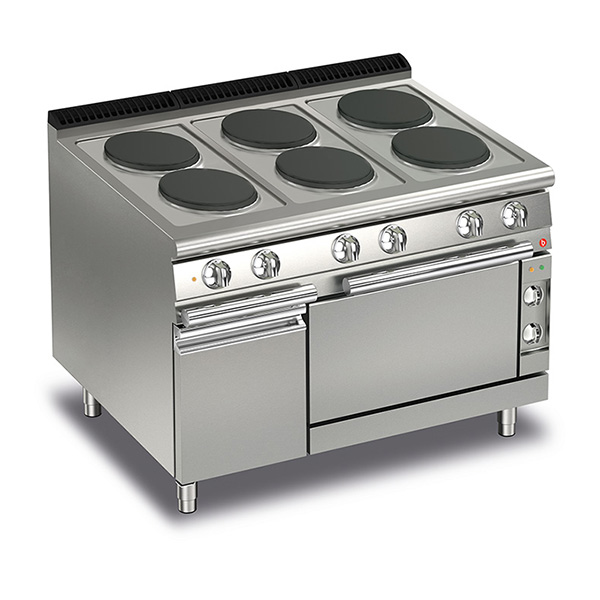 baron 6 burner electric cook top electric oven q70pcf e120