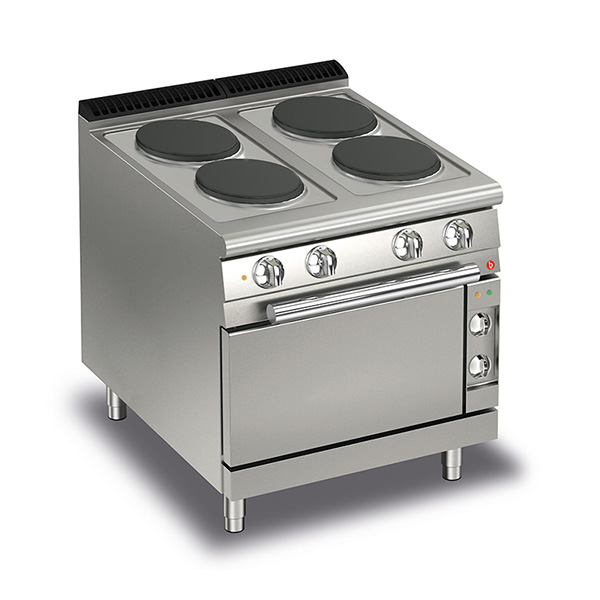 baron 4 burner electric cook top electric oven q70pcf e800