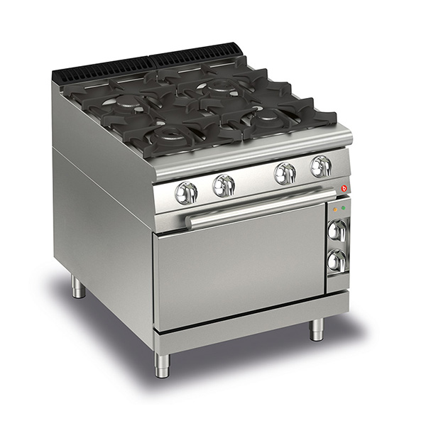 baron 4 burner gas cook top gas oven q70pcf g8005