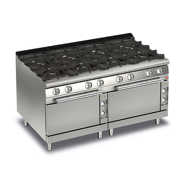 baron 8 burner gas cook top 2 electric ovens q70pcf ge1605