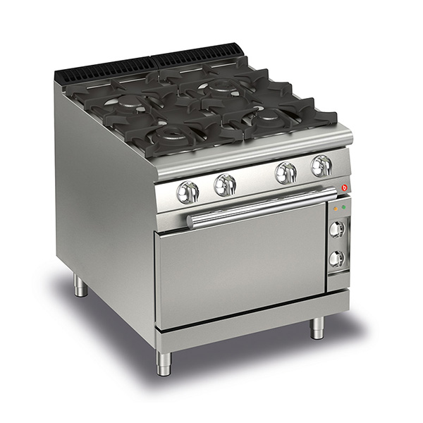 baron 4 burner gas cook top electric oven q70pcf ge8005