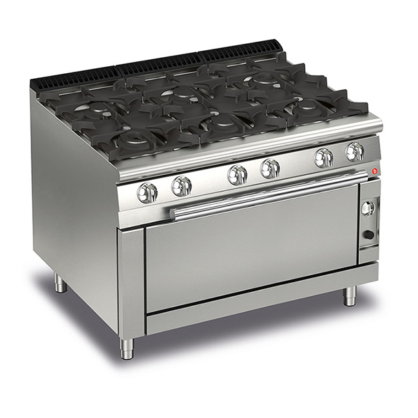 baron 6 burner gas cook top full length gas oven q70pcfl g1205