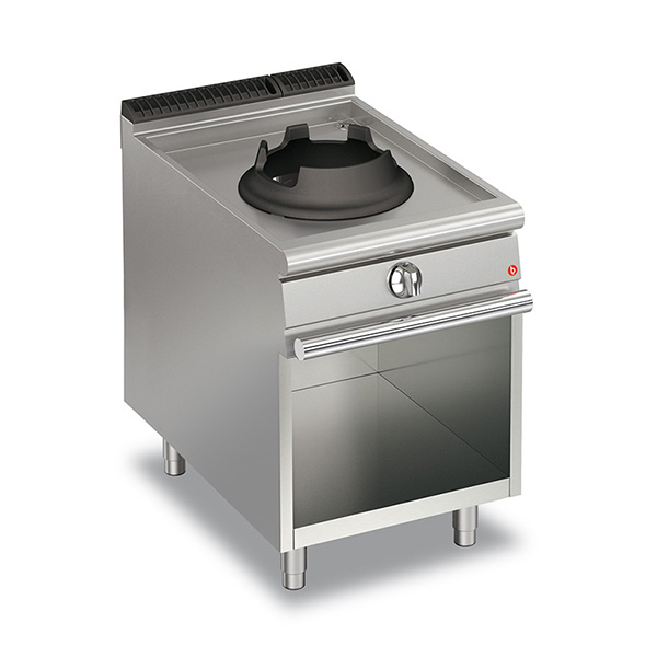baron 10kw high power single burner gas wok open cabinet q70pcv wg610