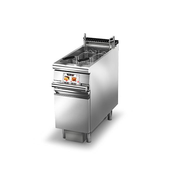 Baron baron 23l single basin evo electric deep fryer incorporated oil filtering basket lift q90frev e422fa