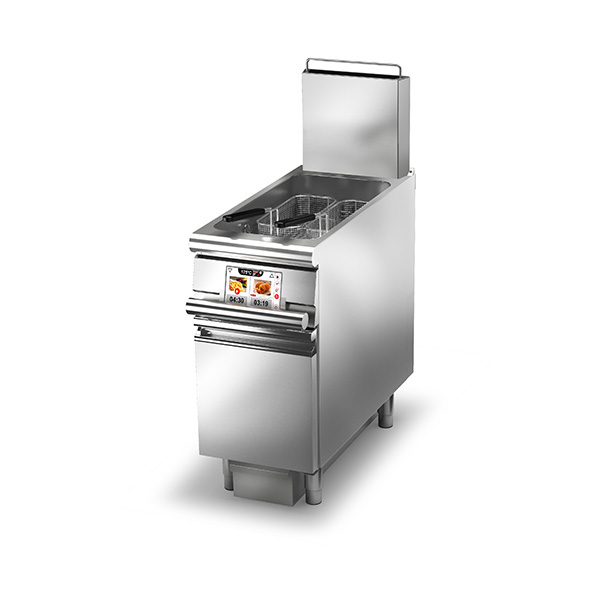 baron 23l single basin evo gas deep fryer 90frev g423