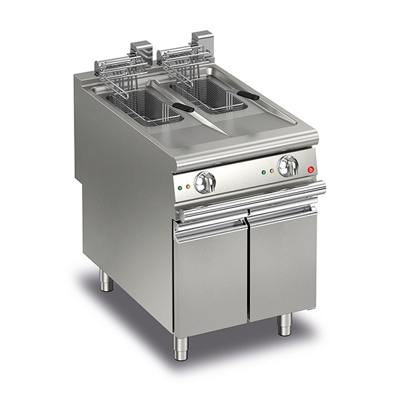 baron 10 10l split pot electric deep fryer q90fri e610