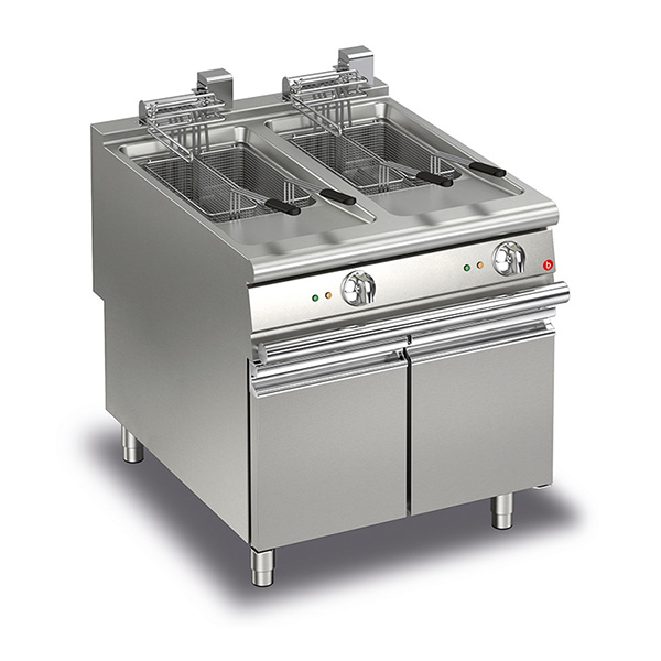 baron 20 20l double basin electric deep fryer q90fri e820