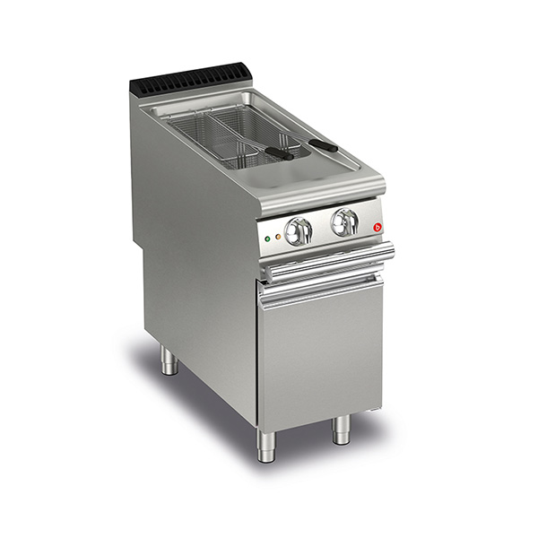 baron 20l single basin gas deep fryer electric ignition q90fri g420