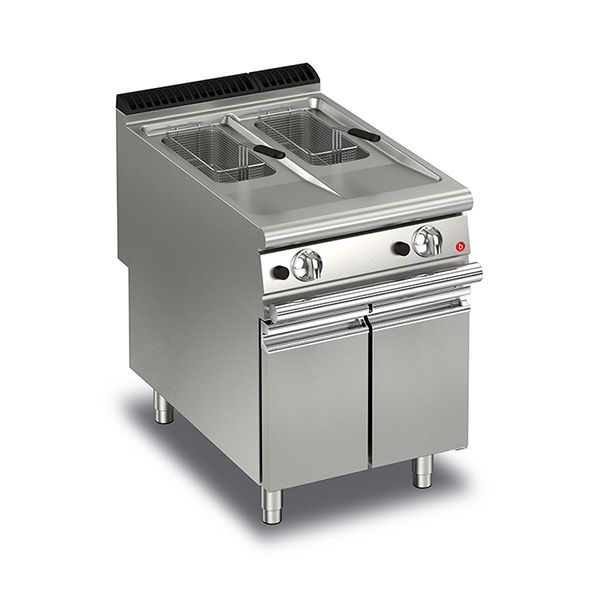 baron 10 10l split pot gas deep fryer q90fri g610