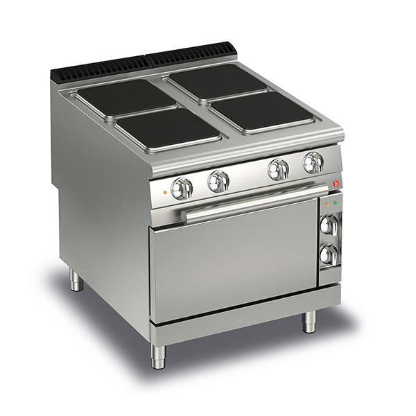 baron 4 burner electric cook top electric oven q90pcf e801