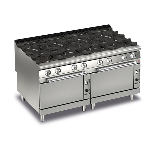 baron 8 burner gas cook top 2 gas ovens q90pcf g1605
