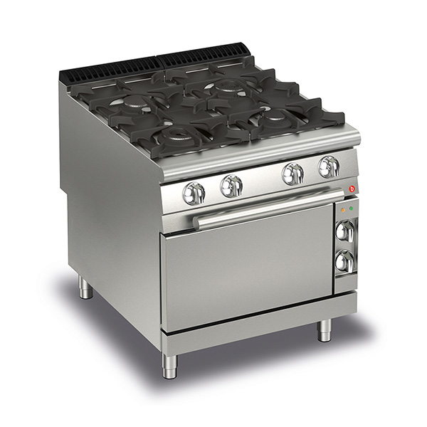 baron 4 burner gas cook top gas oven q90pcf g8005