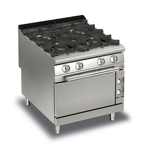 baron 4 burner gas cook top electric oven q90pcf ge8005