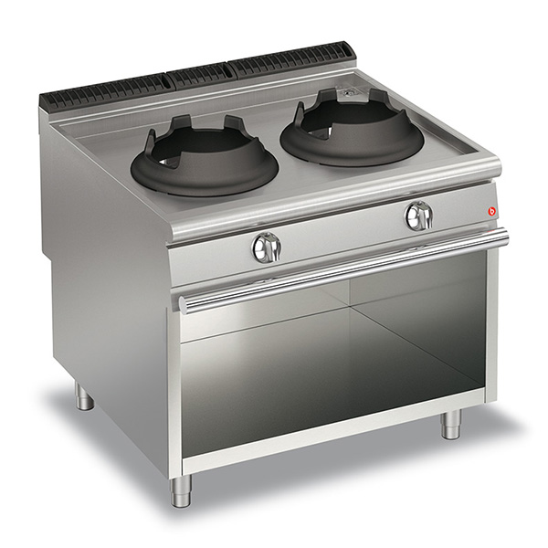 baron 20kw high power double burner gas wok open cabinet q90pcv wg1020