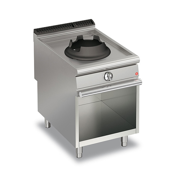baron 10kw high power single burner gas wok open cabinet q90pcv wg610