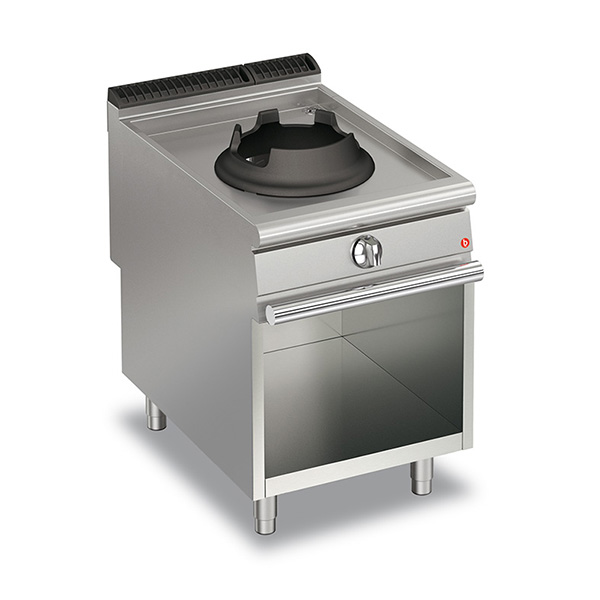 baron 14kw high power single burner gas wok open cabinet q90pcv wg614
