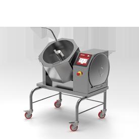 Firex Cucimix model tilting bratt pan featuring the new easy touch control panel