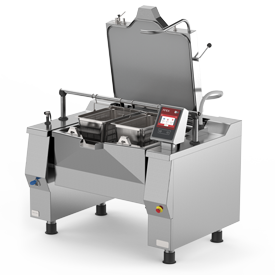 Firex Betterpan model pressurised bratt pan featuring the new easy touch control panel